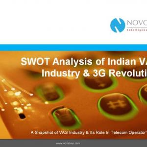 SWOT Analysis of Indian VAS Industry